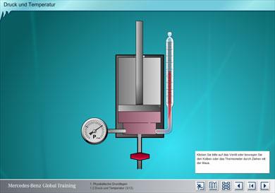 Simulation: Physikalische Eigenschaften - Druck und Temperatur