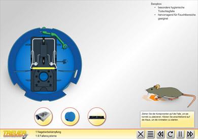 Simulation: Swopbox – Hygienische Falle für Feuchtbereiche