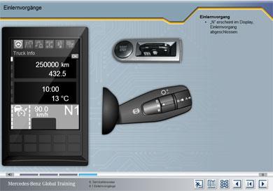 Funktionsweise Einlernvorgang - Interaktiv gesteuert über Multifunktionshebel rechts