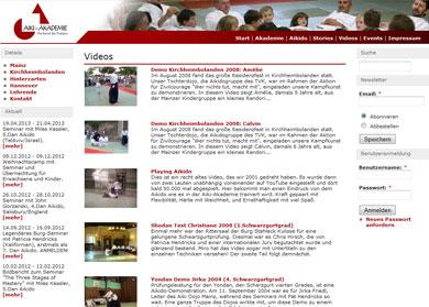 Videobereich der Akademie
