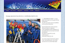 Internetpräsenz LINN elektro<br/>LINN elektro GmbH & Co. KG