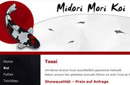 Internetpräsenz Midori Mori Koi<br/>Matthias Grünewald
