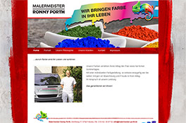 Internetpräsenz Malermeister Porth<br/>Malermeister Ronny Porth